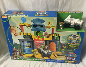 PAW-Patrol-Jungle-Rescue-Monkey-Temple-Playset-with-Tracker-Pup-Figure-amp-Vehicle