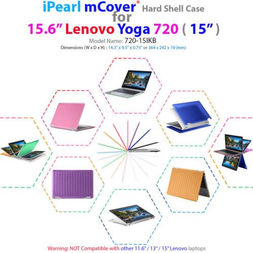 "15 2-in-1 Ultrabook Laptop NEW mCover® Hard Case for NEW 15.6/"" Lenovo Yoga 720"
