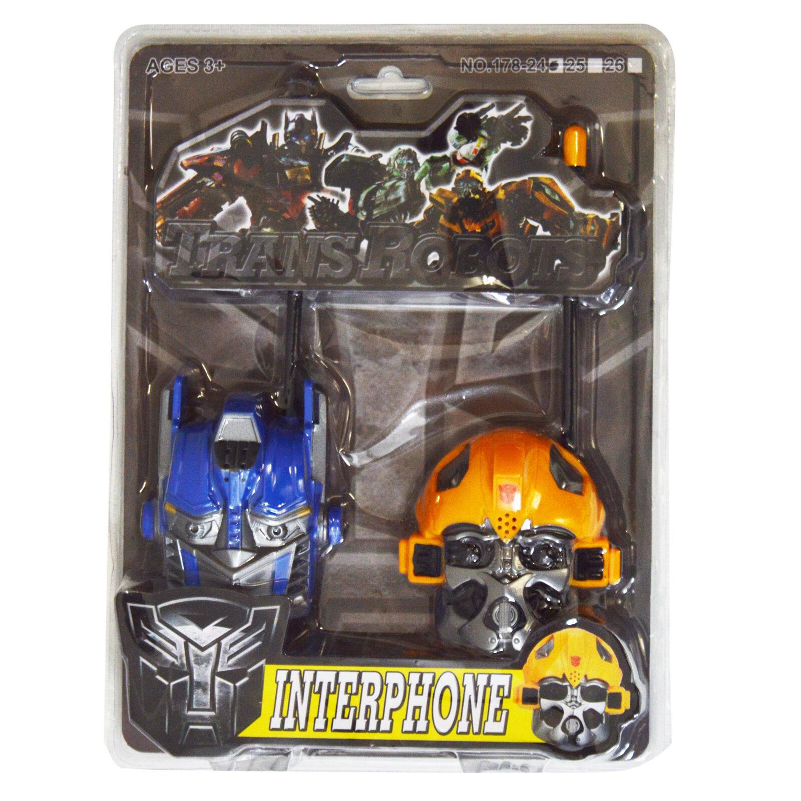 Optimus Prime Bumble Bee Transformers Kids Walkie Talkies Set Range Radio
