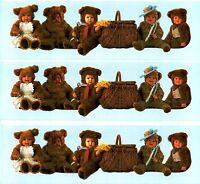 Anne Geddes Baby Teddy Bear Border Scrapbook Stickers 3 Sheets