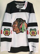 Reebok Premier NHL Jersey Chicago Blackhawks Team White Stadium Series  sz L