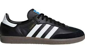 be80f37bc Adidas Originals Men's SAMBA OG Shoes Black/White B75807 c | eBay