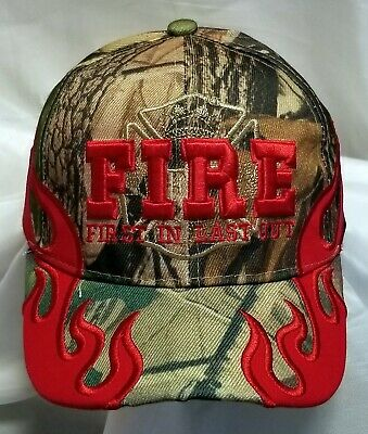 FIRE DEPARTMENT HAT CAMOUFLAGE WITH SHADOW BASEBALL STYLE CAP
