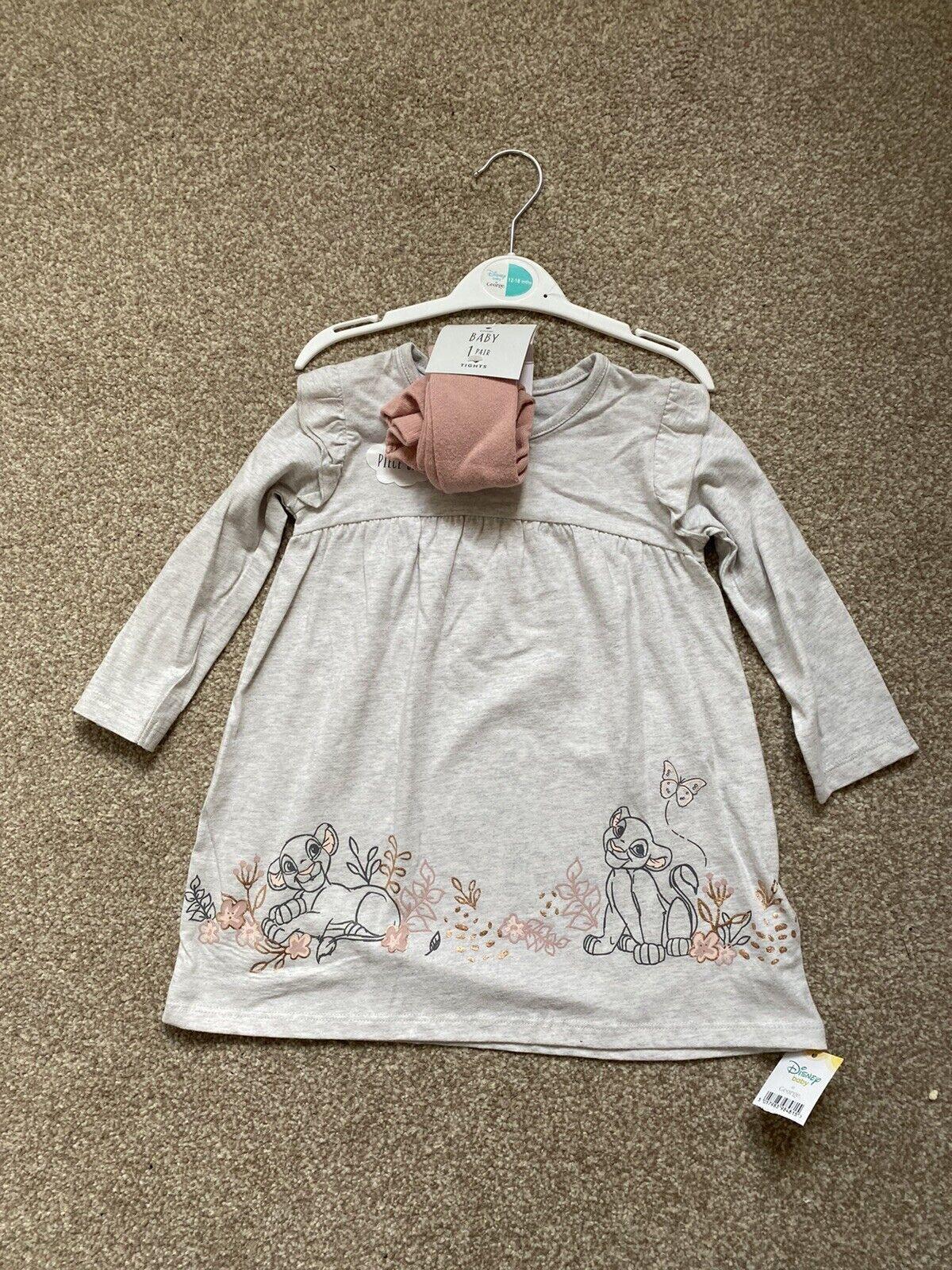 12-18 mths Niñas Vestido & Mallas Conjunto