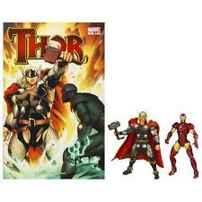 Marvel Universe Thor & Iron Man Avengers 2 Pack+Comic Book figures 2009