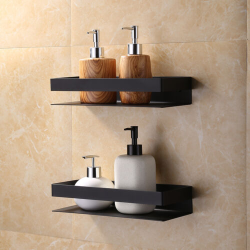 SUS304 Wall Mounted Double Bathroom Shower Shelf Holder Storage Caddy Organizer