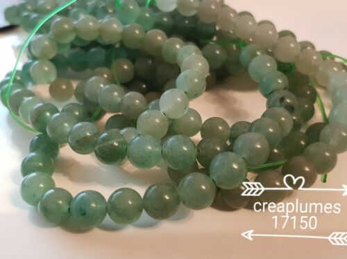 lot de 10 perles naturelles aventurine  8mm