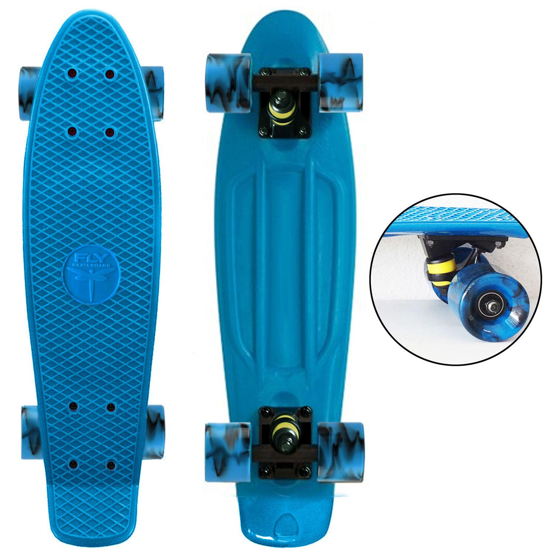 Aqua bluee   Swirly bluee Wheels   - 22  Penny Style S Board - New COLLECT NOW    credit guarantee