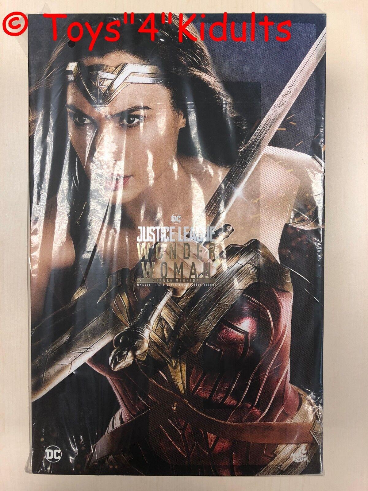 heta leksaker MMS 451 Justice League Wonder kvinna Gal Gadot (Deluxe Version) Ny