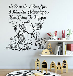 Image Is Loading Winnie The Pooh Wall Decals Quote Decal Vinyl
