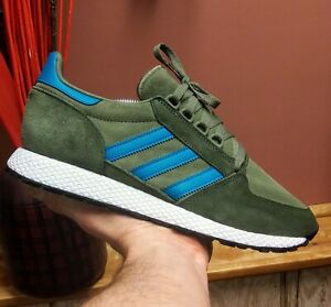 Adidas-Forest-Grove-Men-039-s-Size-10-5-EE8970-Raw-Khaki-Active-Teal-Night-Cargo