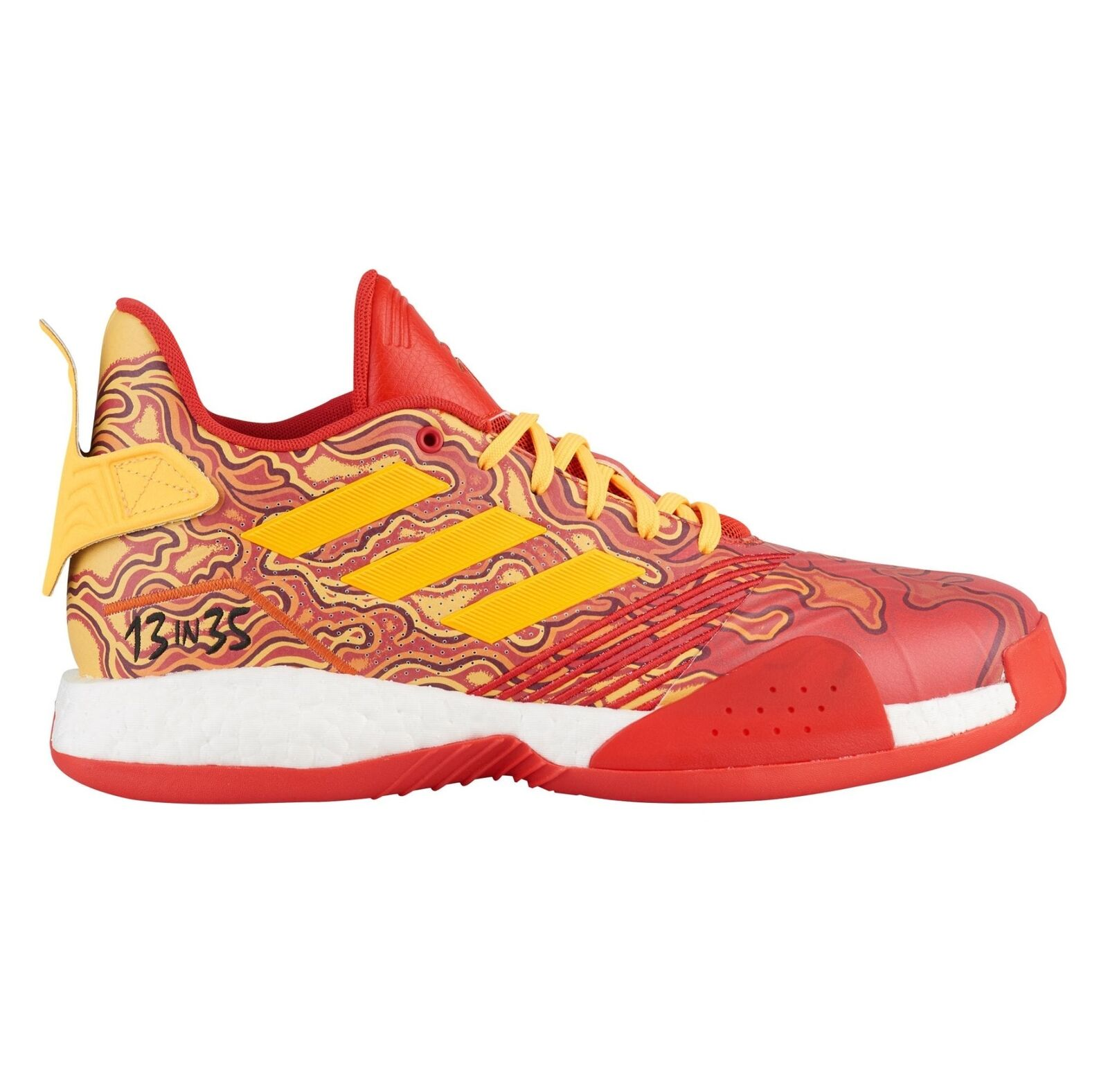 Adidas TMAC Millenium Mens G28376 Scarlet Red gold Basketball shoes Size 9.5