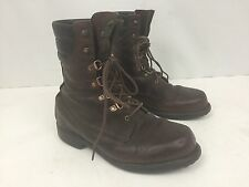 VINTAGE MENS RED WING IRISH SETTER WORK LEATHER BROWN BOOTS SIZE 8 EE