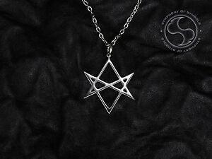 Unicursal hexagram symbol pendant stainless steel thelema necklace image is loading unicursal hexagram symbol pendant stainless steel thelema necklace mozeypictures Images