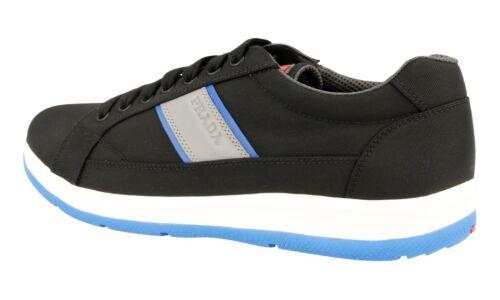 5 5 Luxueux Nouveaux 45 Chaussures 44 4e2987 10 Bleu Noir Prada H040qT