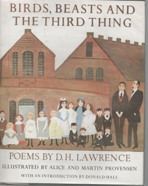 BIRDS BEASTS & THE THIRD THING POEMS BY D H LAWRENCE FIRST EDITION HB DJ 1982