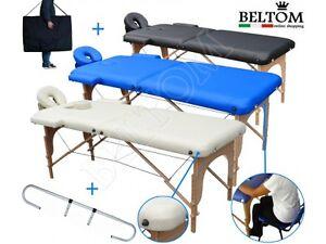 Coperta Termica Per Lettino Da Massaggio.Lettino Da Massaggio 2 Zone Portarotolo Portatile Nuovo Per