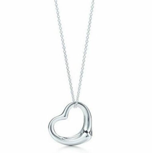 Women's//Girl's White Gold Plated 'Floating Heart' Chain//Necklace /& Pendant Set