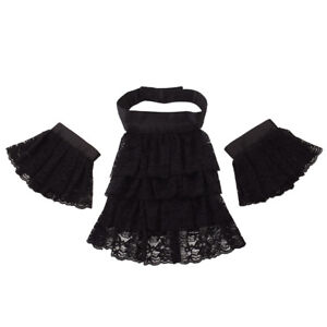 4dc1c04bf2555 Image is loading Vintage-Gothic-Victorian-Black-Detachable-Collar-With-Two-