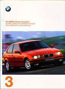 + Réduction + + + Bmw SÉrie 3 Compact Brochure 1997-afficher Le Titre D'origine