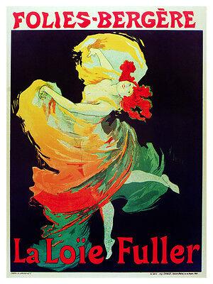 La Loie Fuller vintage theatre poster repro 24x36