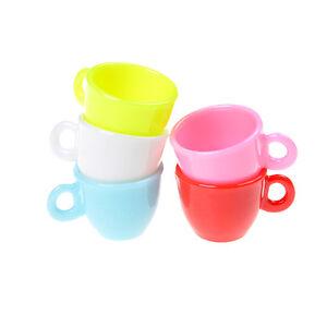 4Pcs 1:12 Dollhouse mini resin coffee cup milk tea cup for doll house decoraJSH