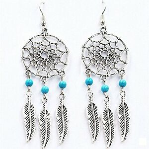 Feather-Dream-Catcher-Mini-Turquoise-Blue-Ear-Cartilage-Stud-Earring-Dangle