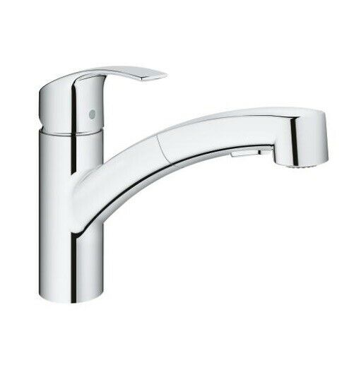 Grohe 30306000 Eurosmart Dual Spray Pull-Out Kitchen Faucet in Chrome Finish