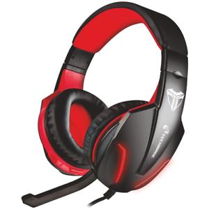 Techmade TM-FL1 Cuffie Con Microfono Gaming Headset Nero / Rosso