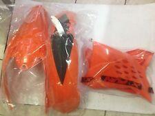 KIT PLASTICHE KTM EXC 125 250 300 2008 2009 2010 2011 KIT 3 PZ COLORE ARANCIO