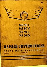 Puch Repair Instructions Manual  MS 50L- MS50V- VS50L- VS 50D  Combined Shipping