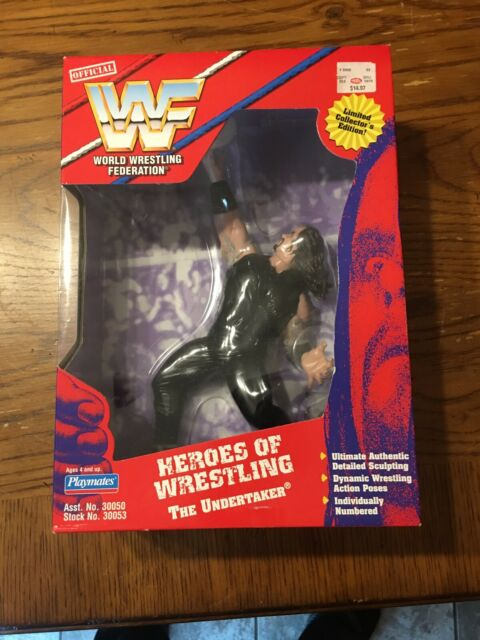 Playmates, WWF, WWE, Heroes Of Wrestling, Undertaker Action Figure, 1997, NIB