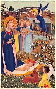 Muriel-Dawson-034-Madonna-of-the-Meadow-034-Baby-Nativity-Angels-Fawn-Medici-Society