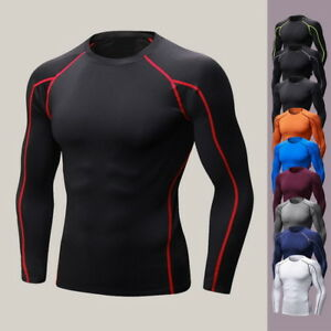 Sport-Men-039-s-Muscle-Slim-Fitness-T-shirt-Athletic-Quick-Drying-Elastic-Gym-Tops