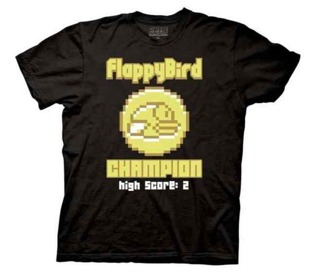 a6403ddbc23a Flappy Bird Champion Mens Black T-shirt S FVAS2001