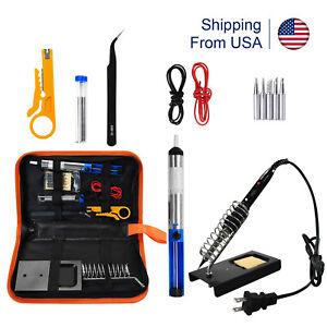 80W-Soldering-Iron-Gun-Tool-kit-110V-LCD-Electric-Welding-Desoldering-Pump-set