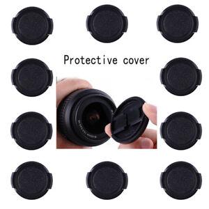 10x-39mm-Kunststoff-Snap-on-Front-Lens-Cap-Cover-fuer-Nikon-Canon-Sony-Fujifilm-Objektiv