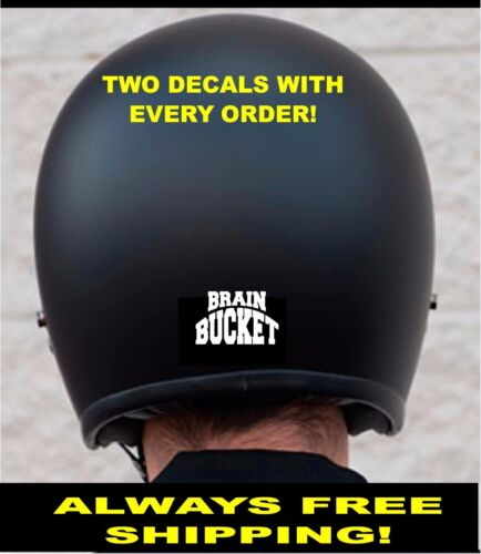 TWO BRAIN BUCKET MOTORCYCLE HELMET 3m REFLECTIVE DECALS