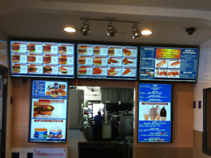 Electronic Menu Board W Our Free Dmb Software W Animated Picture Menu Design Ebay