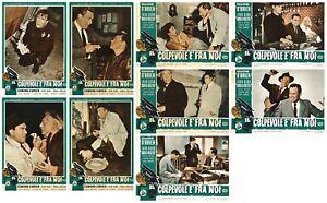 IL COLPEVOLE E' FRA NOI FOTOBUSTE 9 PZ FILM-NOIR 1954 SHIELD FOR MURD LOBBY CARD