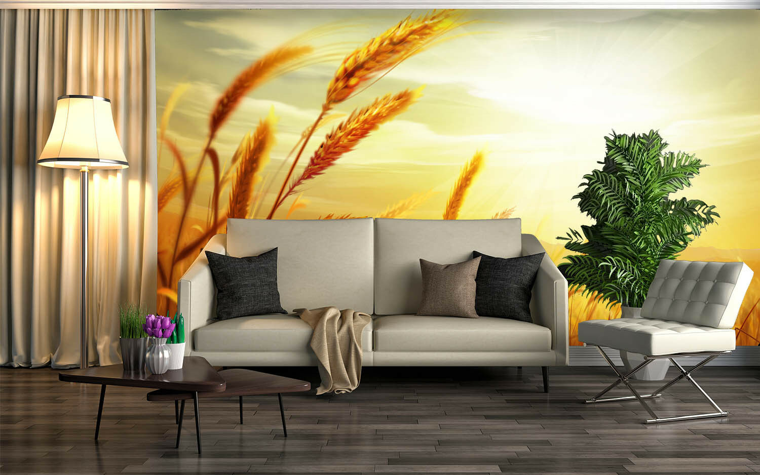 3D Swaying Wheat 48 Wall Paper Wall Print Decal Wall Deco Indoor AJ Wall Paper
