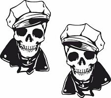 2x Skull Stickers for Motorcycle Gas Tank Bumper Skateboard Helmet Laptop #06 PC