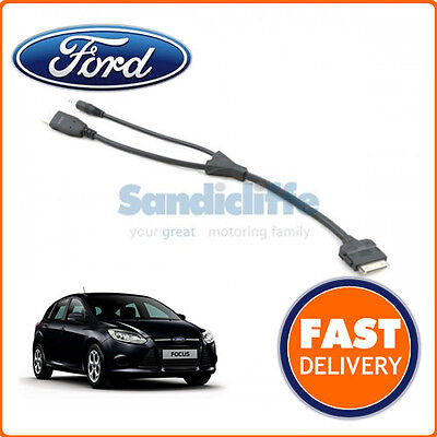 ipod Cable Connector lead 2011-2013 Genuine Ford Focus I-pod