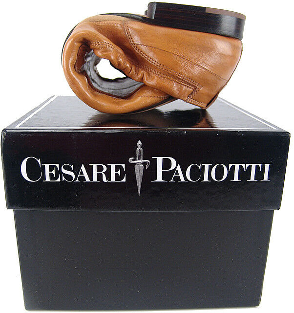 CESARE PACIOTTI FOLDABLE EEL DRIVING LOAFERS US 6 ITALIAN DESIGNER MENS SHOES