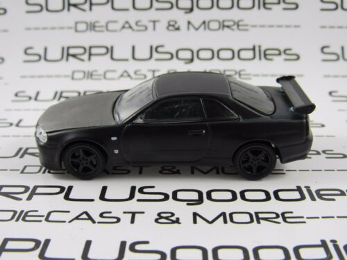 Greenlight 1:64 LOOSE Collectible Murdered Out Black 2000 NISSAN SKYLINE GTR R34
