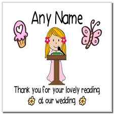 Thank You For Doing A Reading At Our Wedding Girl Personalised Coaster