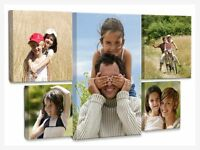 "Your Personalised Photo on Canvas Print  Framed Ready to Hang 8""x12"" 16""x20"""