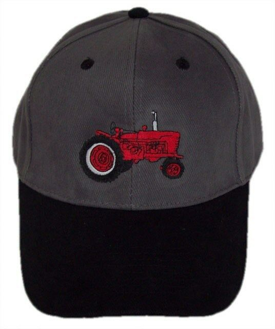 Farmall Tractor Embroidered Grey Black Hat - Cap Gift Fits Most  503fd90d8b59