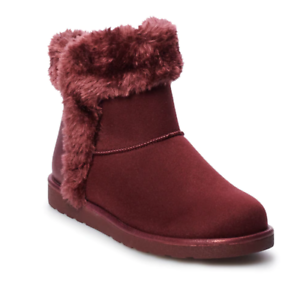 73ccd9c0176 Details about NWT Women's SO® Cicada Winter Boots Shoes Choose Size Wine