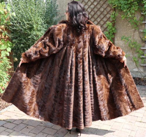 Vison Marron Italie Mode De Manteau Thiliki Fourrure Femmes Swinger 5p6wgHq